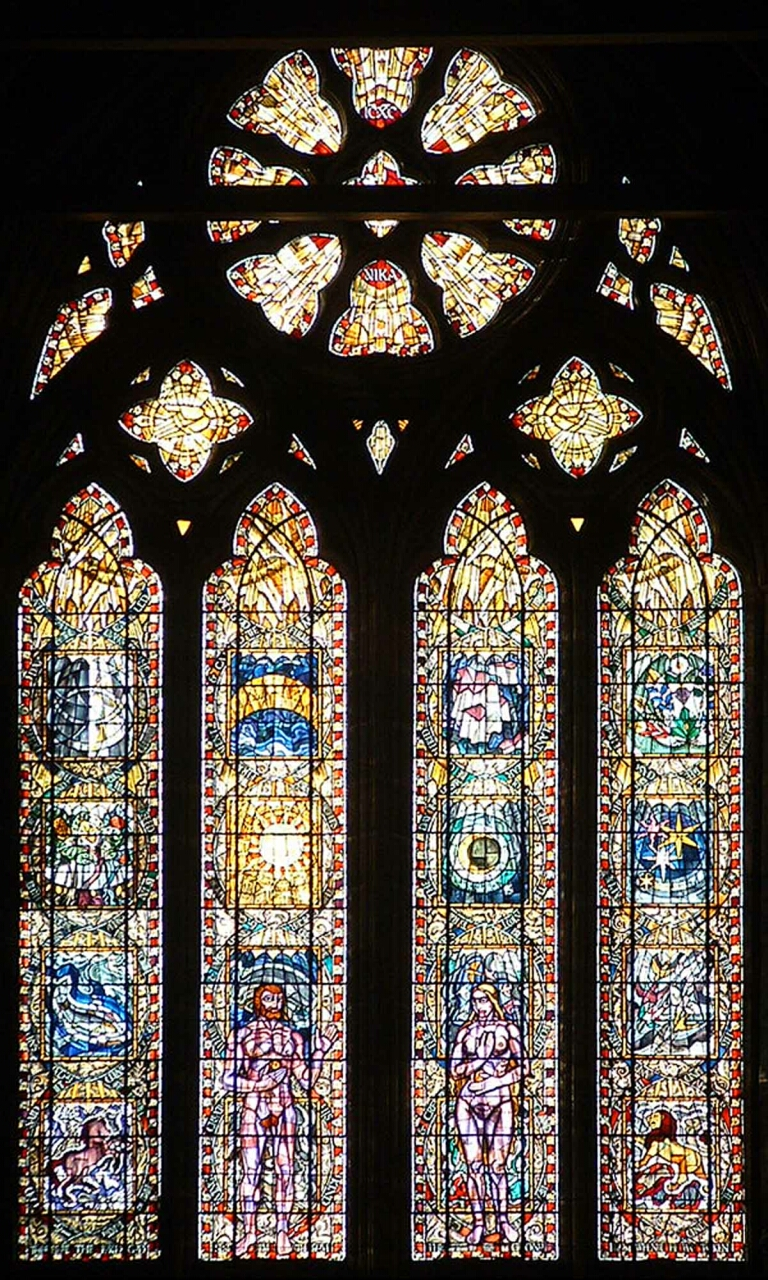 The Great West Window in the Nave of the Cathedral is &#8220;The Creation&#8221; by Francis Spear.